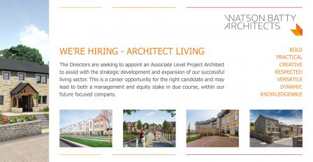 Watson Batty Architects; Leeds; Guiseley; Loughborough; Construction; Architecture; Yorkshire; Experience; Career; Vacancies; Job; New Role; FutureBuilt; Staff; WBA; Employees