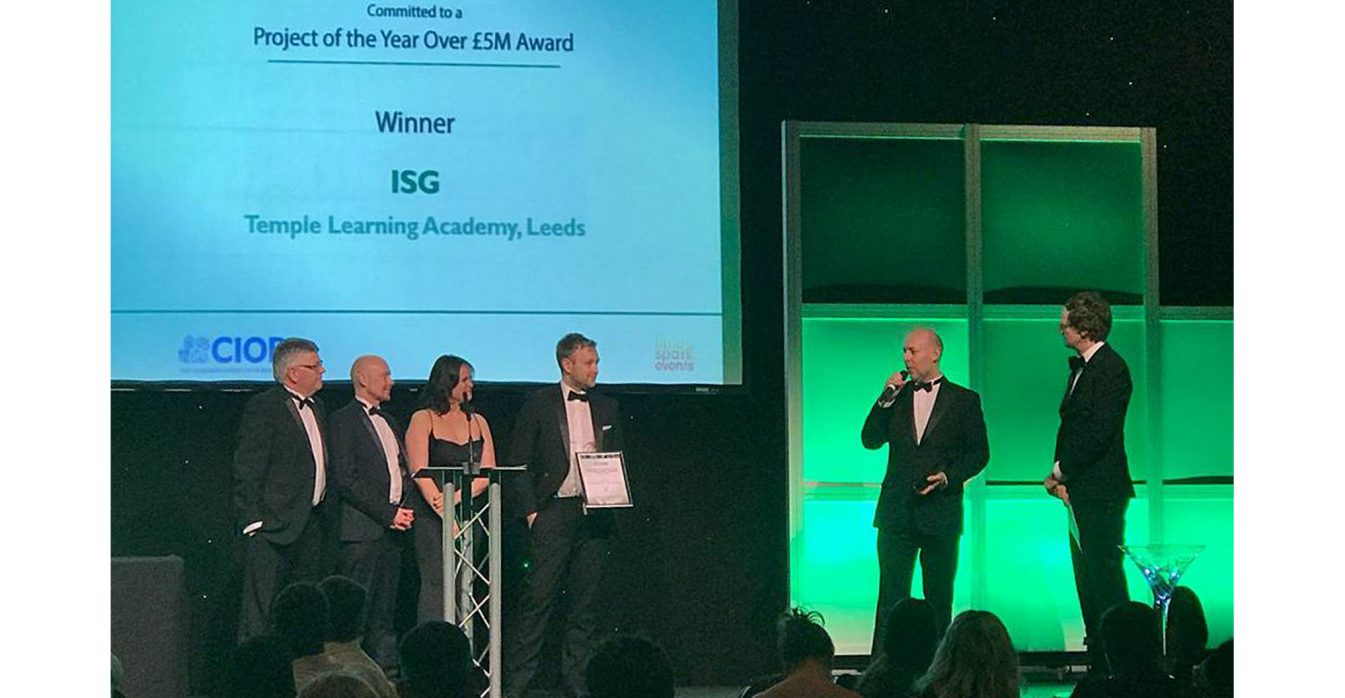 Watson Batty Architects; Leeds; Guiseley; Loughborough; Construction; Architecture; Yorkshire; ESFA; Temple Learning Academy; ISG; FutureBuilt; WBA; CCIHWY; Awards