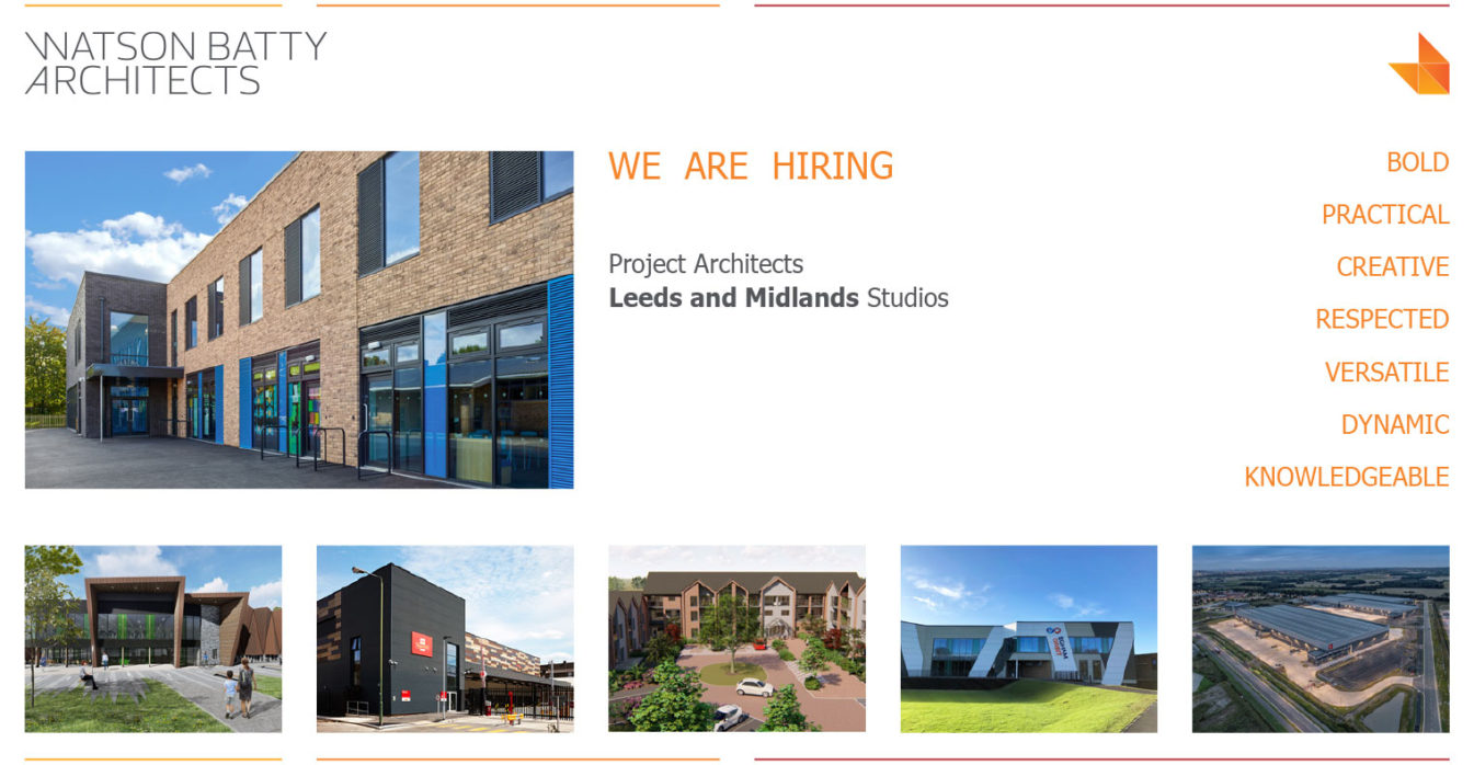 WBA; Watson Batty; Architects; Yorkshire; Leeds; Guiseley; Loughborough; Architecture; Staff; Hiring; Midlands; Project Architects